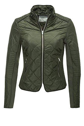 VERO MODA Damen VMYOU Short Jacket Jacke, Grau (Peat), 34 (Herstellergröße: XS)