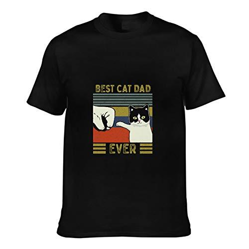 Camiseta de estilo retro para hombre, diseño de gato y papá