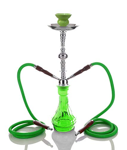 2- Hose Green Gini Shisha Green Luxury pipe Wasserpfeife - Wasserpfeife kein Tabak kein Nikotin best buy Fun chicha narghile - no tobacco no nicotine