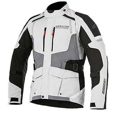 Alpinestars Men's Andes v2 Drystar Motorcycle Jacket, Light Grey/Black/Dark Grey, Large