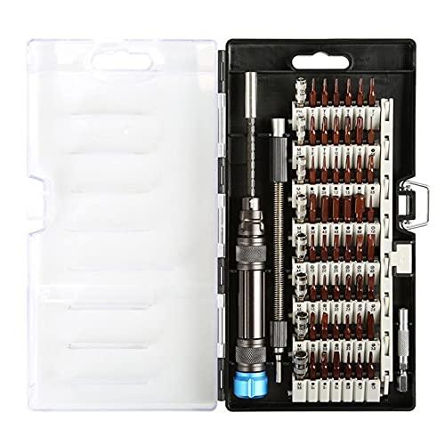LUYIPINGQIWND 60 in 1 Chrom Vanadium Präzision Schraubendreher Werkzeugkit Magnetschraubendreher Set für Telefon Tablet Kompakte Reparaturwartung Werkzeug