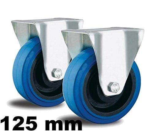 2 Bockrollen 125mm blaue Reifen (blue wheel) Transport von Musik-Instrumente