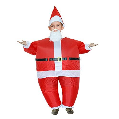 ACHICOO Weihnachtskostüm, Party Cosplay Kleidung Weihnachten aufblasbare Weihnachtsmann Kostüm Jumpsuit Air Fan betrieben Blow Up Weihnachtsanzug Weihnachtsfeier Outfit Kind