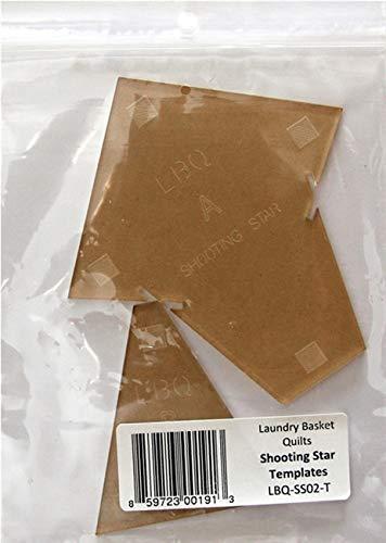Wäschekorb Quilts, Schablone – Sternschnuppen – Acryl-Schablonen