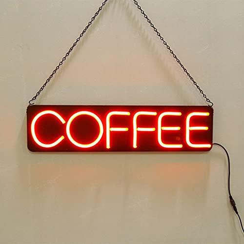 LED-koffieletterteken, koffieteken voor bedrijven, met meerdere knipperende modi, ideaal voor restaurants, cafés en meer met afstandsbediening (kleur: knipperend)
