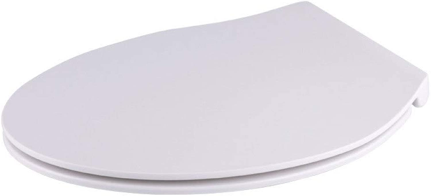 Toilet Lid Toilet Seats, Ultra-thin Universal Toilet Seat Drop Mute Antibacterial Urea-formaldehyde Top Mounted For V Toilet,White-435475  361mm
