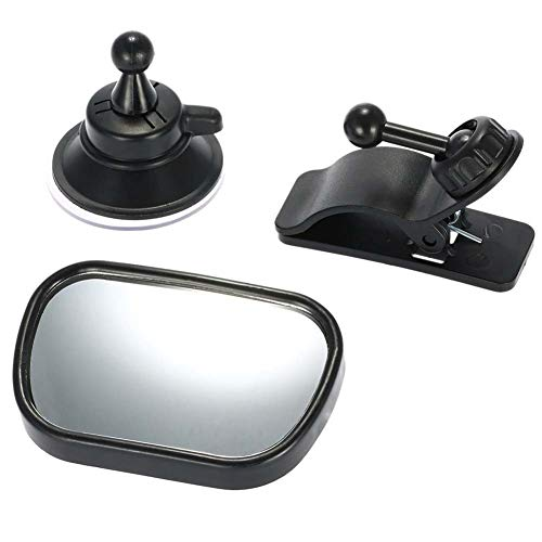 Heylas achterbank spiegel, achterbank spiegel voor baby auto stoel met zuignappen en beugel verstelbare auto baby achteruitkijkstoel baby veiligheid spiegel