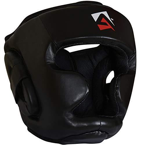 AQF Casco Boxeo para MMA Entrenamiento Casco Protector Muay Thai Kick Boxing Protección para Toda la Cara 🔥