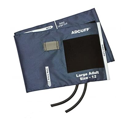 ADC 845-12XN-2 Blood Pressure Cuff with 2 Tubes , Navy N, Large Adult, With 2 Tube