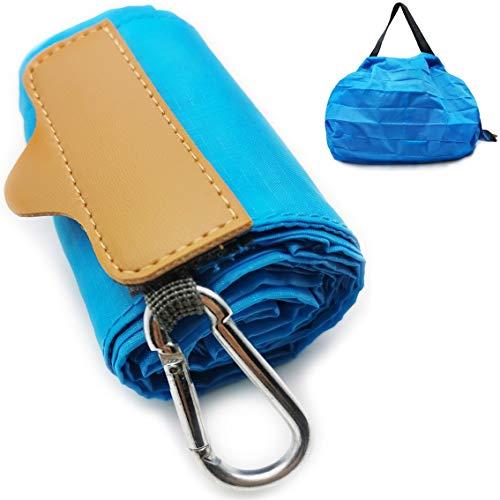 旅行用折りたたみバッグ 旅行トートバッグ 便利トラベルグッズ 旅行用品 旅行小物 防水 容量10L 超軽量 折り畳み (青, L)