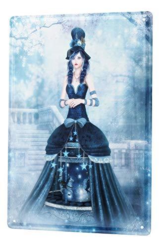 LEotiE SINCE 2004 Plaque en Métal Métallique Poster Mural tin Sign Motif Fantaisie Gothique Manga Neige