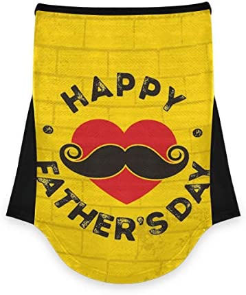 VOUSME Face Mask Bandana Neck Gaiter Father S Day Mustache Mask Scarf Motorcycle Outdoor Protection product image