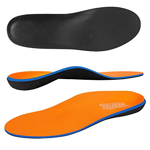 WateLves Shockless Schuheinlagen Fersengepolsterte Orthopädische Einlegesohlen für flache Füße Einlagen Comfort Premium Federleichter Laufkomfort, Orange, 40 EU