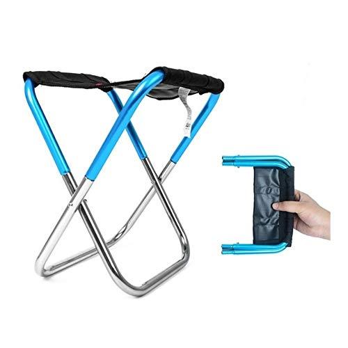 T-ara Suave y confortable Silla plegable de la pesca tela ligera de aluminio acampar al aire libre portable de la silla de carga portátil práctica conveniente for llevar herramientas de pesca picnic b