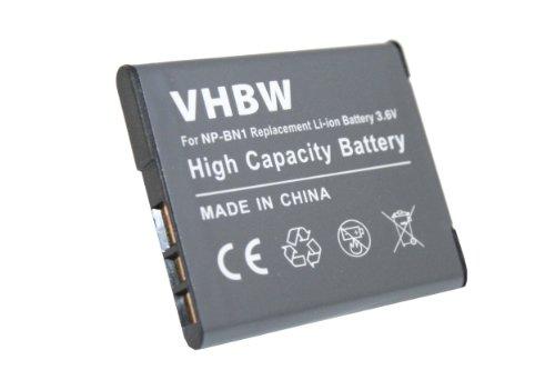 VHBW Hochleistungs-Akku LI-ION passend für Sony Cybershot DSC-T110, DSC-TF1, DSC-TX10, DSC-TX100, DSC-TX100V, DSC-W510, DSC-W530 etc. ersetzt NP-BN1