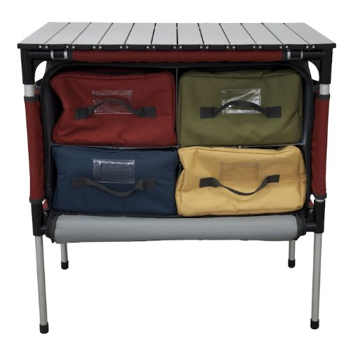 """Camp Chef Sherpa Camp Table & Organizer, Table top 27"""" x 17"""", Table Height 28"""""""