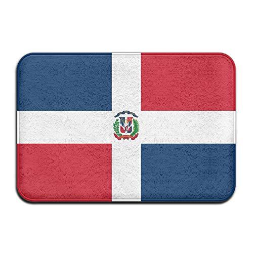 Alfombrilla de bienvenida con la bandera de la República Dominicana, para puerta delantera, baño, interior y exterior, alfombrilla para puerta de baño, entrada exterior