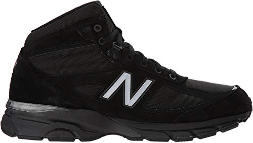 New Balance Men's 990v4 Boot, Black/Grey, 10 D US