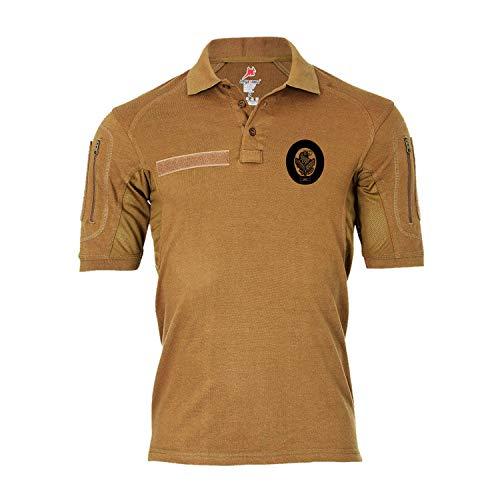 Copytec Tactical Poloshirt Alfa - Scharfschützenabzeichen Wappen Logo Sniper #19298, Größe:XL, Farbe:Sand