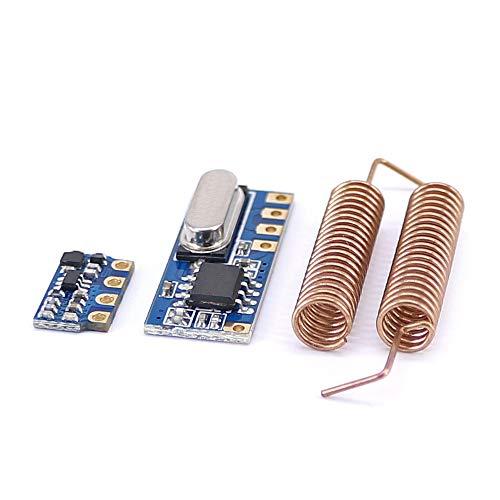 ILS 5 Stück 433 MHz Wireless Transceiver Mini RF Sender Empfänger Modul + 10 Stück Federantenne für Arduino - funktioniert mit offiziellen Karten für Arduino