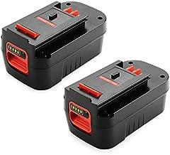 ANTRobut 2 Pack 18V 5000mAh HPB18-OPE Lithium Battery for Black and Decker 18 Volt Battery Firestorm Battery 244760-00 A1718 FS18FL FSB18 Black Decker 18V Battery