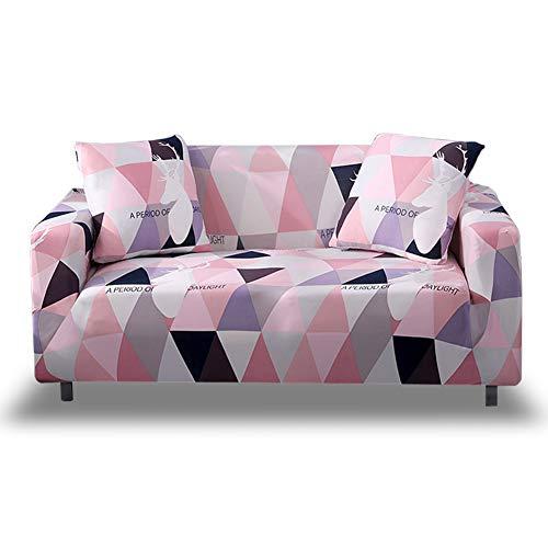 HOTNIU Elastischer Sofa-überwurf, Antirutsch Stretch Sofabezug, Sofahusse, Sofaüberzug, Sofa Abdeckung, Hussen für Sofa Couch Sessel in Verschiedene Größe und Farbe(2 Sitzer, Gemustert #FGMM)