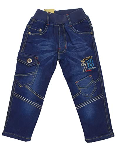 Fashion Boy warme Jungen Thermohose, Jeanshose in Blau, Gr. 92/98, JTn80.2