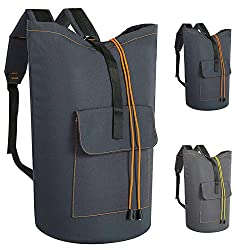 commercial Oversized Laundry Bag 115 L High Performance Backpack with Belt Pocket Hanging Laundry Basket… laundry bag for college student
