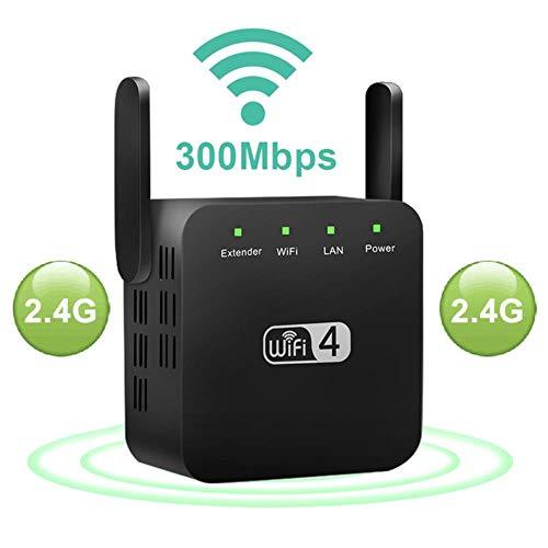suyanouz Repetidor WiFi de 5 GHz Extensor WiFi Inalámbrico Amplificador Wi-Fi de 1200Mbps Amplificador de señal 802.11N de Largo Alcance Wi-Fi Amplificador 2.4G Repiter WiFi, 2.4G Negro, UE