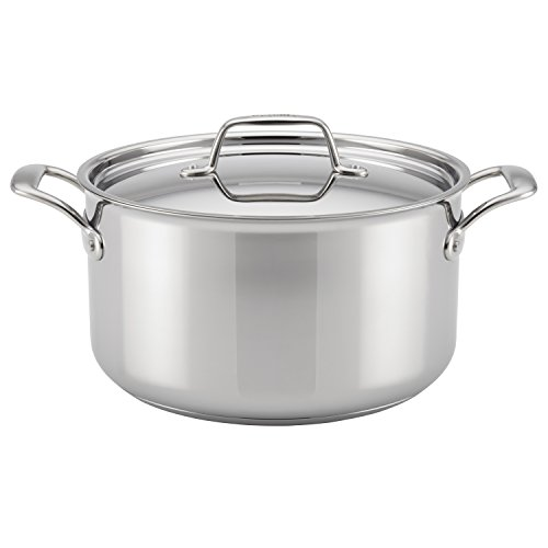 Breville 32068 Thermal Pro Clad 8 Quart Covered Stockpot, Medium, Stainless Steel, 7.57 liters