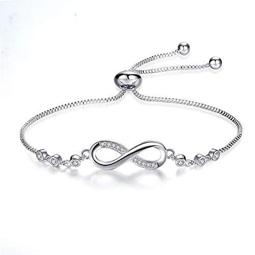 Bracelet Mode Infinity Femmes Bracelet Réglable Boîte Chaîne Lien Bracelets Bracelet Charme Bijoux Tendance
