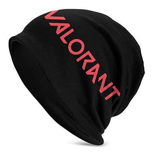 LHB-NANC Valor-Ant Logo Chapeau tricoté Adulte Mode Bonnet décontracté Hiver Chaud Doux Casquette d'impression 3D Unisexe Chapeau tricoté Cadeau de Mode Noir