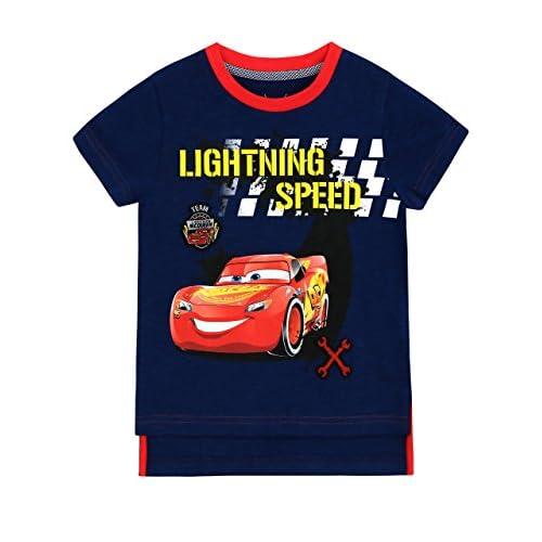 Disney Cars - Maglietta a Maniche Corta Ragazzi - Cars Lightning McQueen - 18-24 Mesi