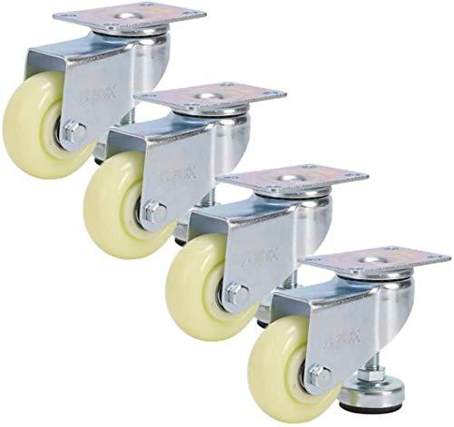 Para Silla Oficina Ruedas giratorias 3in Mediana ajustable soporte de ruedecilla de carga pesada 300KG Se utiliza for muebles Vitrina Tamaño Nombre: Nombre de color: Rojo ( Color : White , Size : A )