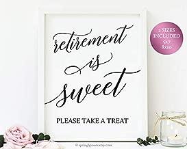 Best retirement is sweet please take a treat Reviews