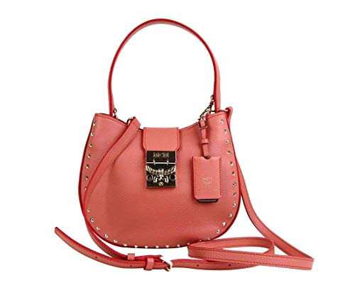 Made of Leather; Silver tone hardware; Detachable and adjustable shoulder strap MCM's Visetos Logo Pattern; Flap Close with Push Lock Measurements: Length: 8.75; Height: 7; Depth: 2.5; Width: 8.75; Strap Drop: 22 - 26 Inches Original MCM tags, dust b...