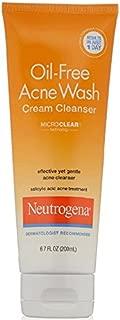 Neutrogena Oil-Free Acne Face Wash Cream Cleanser with Salicylic Acid, Non-Comedogenic Acne-Prone Skin Cleanser, 6.7 fl. oz