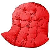 TAOSE Korb Hängesessel Kissen Gestell Hängestuhl Innen Außen Hängekorb Schaukel Sessel Kissen Enthält Keine Hängenden Stühle 120x90x15cm Red