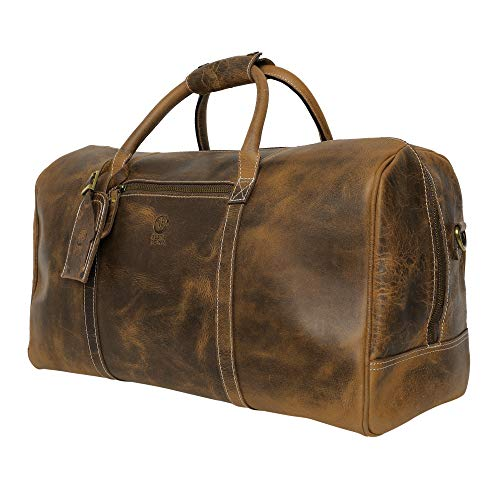 Leather Carry On Bag - Holdall Airplane Underseat Travel Duffel Bags by Rustic Town