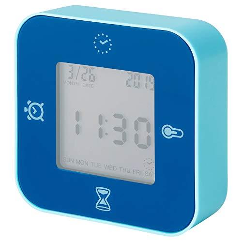 My- Stylo Collection Uhr/Thermometer/Wecker/Timer, blau, Produktmaße: Breite: 7 cm, Tiefe: 3 cm, Höhe: 7 cm