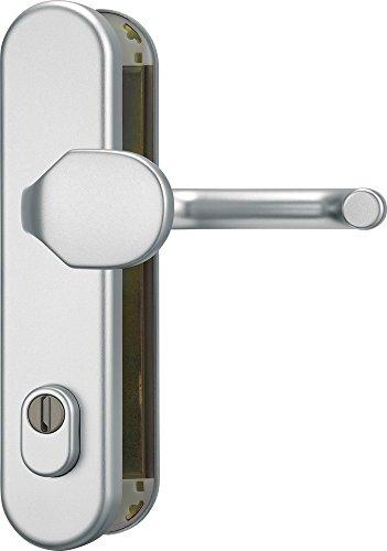 ABUS Tür-Schutzbeschlag HLZS814 F1 aluminium mit Zylinderschutz rund 37404