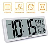 Best Digital Wall Clocks - XREXS Large Digital Wall Clock, Electronic Alarm Clocks Review