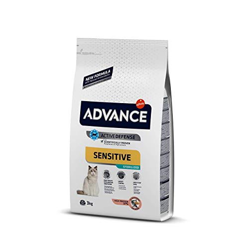 Advance Sensitive Pienso para Gato Esterilizado Adulto con Salmón - 3000 gr ✅