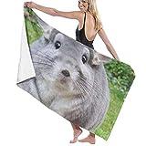 xcvgcxcvasda Serviette de Bain, Soft, Quick Dry, Microfiber Travel Towel,Camping Towel, Gym Towel, Sports Towel, Swimming Towel - Perfectly Round Chinchilla Camerons Print