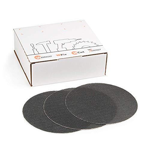 Schleifscheiben 225 mm Klett Set |Schleifgitter Körnung 80 100 120, je 5 Stück | Ideal für Deckenschleifer, Trockenbauschleifer und Tellerschleifer