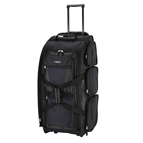 """Travelers Club Xpedition 30 Inch Rolling Multi-Pocket Upright Duffel, Black, 30"""""""