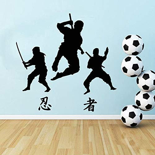 JXFM Pegatinas de Pared de Vinilo de Lucha DIY, decoración de Dormitorio para niños, Mural Deportivo de Artes Marciales, 50x50cm