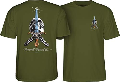 Powell Peralta T-Shirt Skull & Sword Grün S (Small)