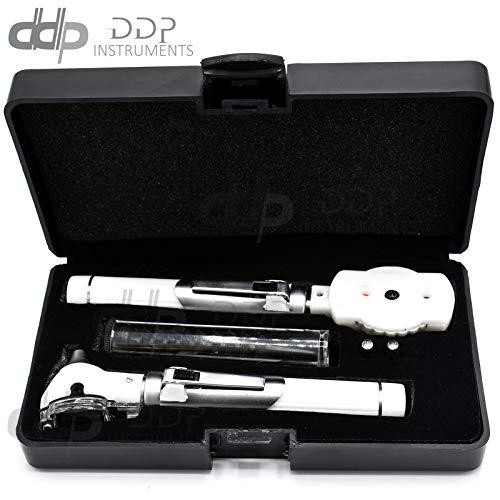 DDP Premium Fiber Optic Otoscope Ophthalmo Examination Led Diagnos ENT White Color