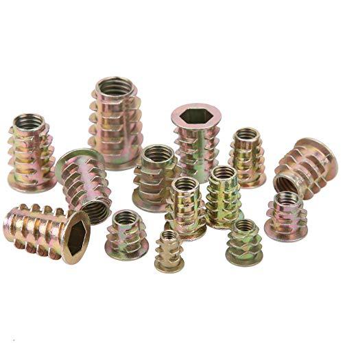 Tuerca de inserción hexagonal Cabeza de transmisión galvanizada de hierro Insertos de tornillo hexagonal para inserto de muebles de madera